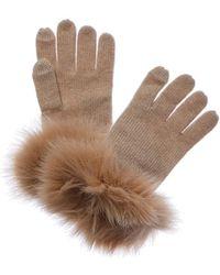 Sofia Cashmere - Cashmere Knit Tech Gloves - Lyst