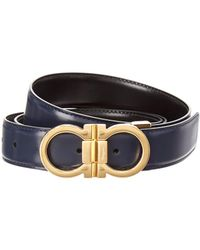 Ferragamo - Adjustable & Reversible Gancini Leather Belt - Lyst