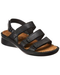 7de9ee1f1062 Lyst - Naot Prodigy Leather Wedge Sandal in Black