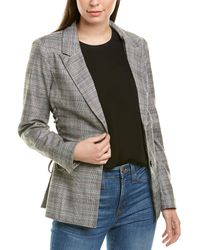 Skies Are Blue Plaid Blazer - Gray