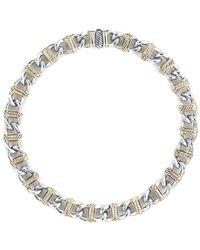 David Yurman - David Yurman Madison 18k & Silver Necklace - Lyst