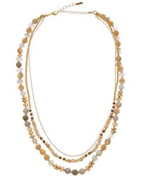 Chan Luu - 18k Over Silver Gemstone, Mother-of-pearl, & Crystal Necklace - Lyst