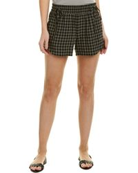 James Perse - Tie-front Wool-blend Short - Lyst