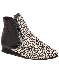 Arche - Planak Leather & Haircalf Bootie - Lyst