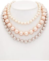 Carolee - Pink Champagne Necklace - Lyst