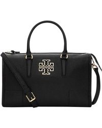 5201c2005944 Lyst - Tory Burch  britten  Leather Convertible Shoulder crossbody ...