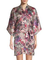 Samantha Chang - Classic Short Silk Kimono Robe - Lyst