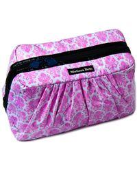 Melissa Beth - Pretty Pleats Black/pink Damask Cosmetic Case - Lyst