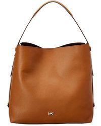 d6e3a3ef10 MICHAEL Michael Kors - Griffin Large Hobo Leather Bag - Lyst