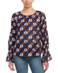 Ella Moss - Embroidered Blouse - Lyst