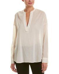 James Perse - Chiffon Silk-blend Pullover Tunic - Lyst