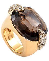 Pomellato - 18k 0.54 Ct. Tw. Diamond & Quartz Ring - Lyst