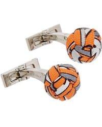Hermès - Silver-tone Orange Kilt Cufflinks - Lyst