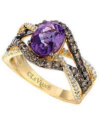 Le Vian - ® Chocolatier® 14k 2.39 Ct. Tw. Diamond & Amethyst Ring - Lyst