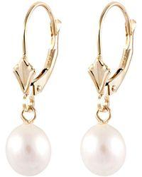 Splendid - 14k 6.5-7mm Freshwater Pearl Drop Earrings - Lyst