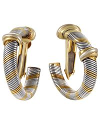 Cartier - Cartier 18k & Stainless Steel Drop Earrings - Lyst