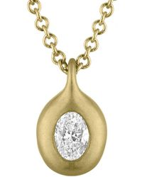 Tate - 18k 0.11 Ct. Tw. Diamond Necklace - Lyst