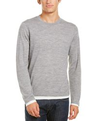 Vince - Birdseye Crew (grey/pearl) Men's Clothing - Lyst
