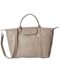 Longchamp - Le Pliage Cuir Medium Leather Tote - Lyst