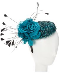 Giovannio - Couture Teal Wool Fascinator - Lyst