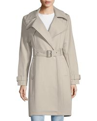 French Connection - Notch Lapel Belted Trench Coat - Lyst