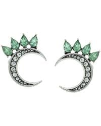 Sparkling Sage - Silver Plated Resin Studs - Lyst