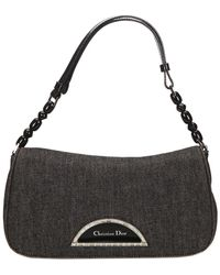 Dior - Grey Denim Malice Baguette Bag - Lyst