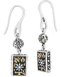 Lois Hill - 24k & Silver Drop Earrings - Lyst