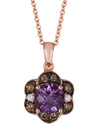 Le Vian - ® 14k Rose Gold 1.42 Ct. Tw. Diamond & Amethyst Necklace - Lyst
