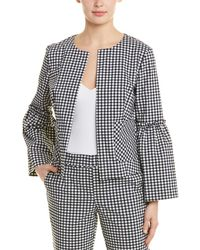 Laundry by Shelli Segal Gingham Bell Sleeve Jacket