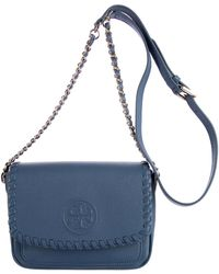 5a2ceeb57cca Tory Burch Marion Small Crossbody in Natural - Lyst