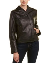 Tahari - T Cameron Leather Jacket - Lyst