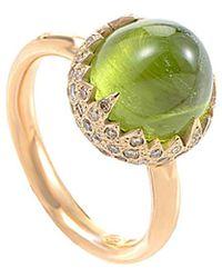 Pomellato - 18k Rose Gold 0.59 Ct. Tw. Diamond & Peridot Ring - Lyst