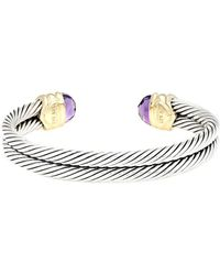 David Yurman - David Yurman Renaissance 14k & Silver 6.00 Ct. Tw. Amethyst Bracelet - Lyst