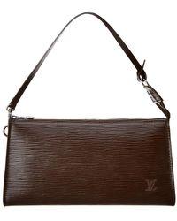 Louis Vuitton - Mocha Epi Leather Pochette Accessoires - Lyst