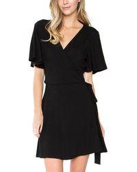 Sugarlips - Mariam Wrap Mini Dress - Lyst