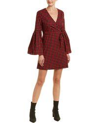 BB Dakota - Alter Ego Bell Sleeve Plaid Print Dress - Lyst