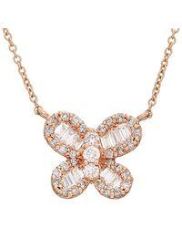 Effy - Fine Jewelry 14k Rose Gold 0.45 Ct. Tw. Diamond Necklace - Lyst