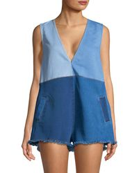 Alice McCALL - Sweet Thing Denim Romper - Lyst