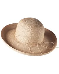 d122a85110e161 Helen Kaminski Caicos Hat in Brown - Lyst