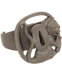 Valentino - Brass Lion Ring - Lyst
