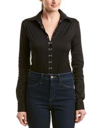 22a369498187 Lyst - Bailey 44 Cold-shoulder Bodysuit in Black