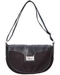 Dior - Black Trotter Canvas Messenger Bag - Lyst