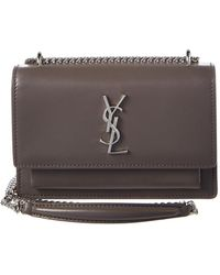 34745cab1c Saint Laurent - Small Sunset Monogram Leather Wallet On Chain - Lyst
