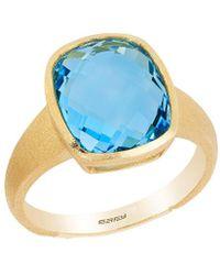 Effy - Fine Jewelry 14k 6.60 Ct. Tw. Blue Topaz Ring - Lyst