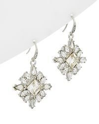 Carolee - Crystal Drop Earrings - Lyst