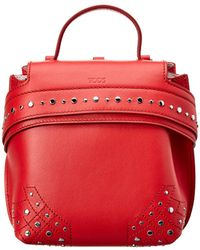 Tod's - Wave Charm Leather Backpack - Lyst