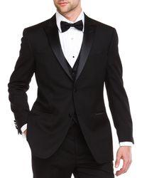 Ike Behar - Ike Evening By 2-button Peak Lapel Classic Fit Tuxedo - Lyst