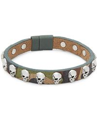 Tateossian - Camouflage Leather Bracelet - Lyst