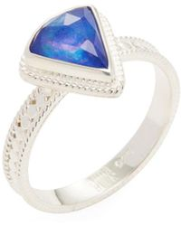 Anna Beck - Jewelry Triangle Lapis Triplet Single Ring - Lyst
